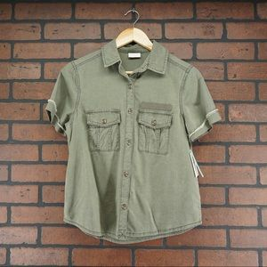 ABOUND Nordstrom Utility Cargo Army Shirt Size XXS